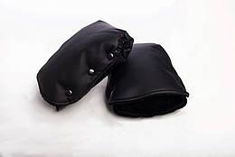 Муфта-рукавицы на коляску DECOZA.MOMS эко кожа Черный DM-MS-5, КОД: 126332