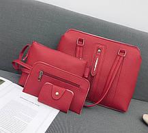 Набор женских сумок 4в1 со стильной молнией, фото 2