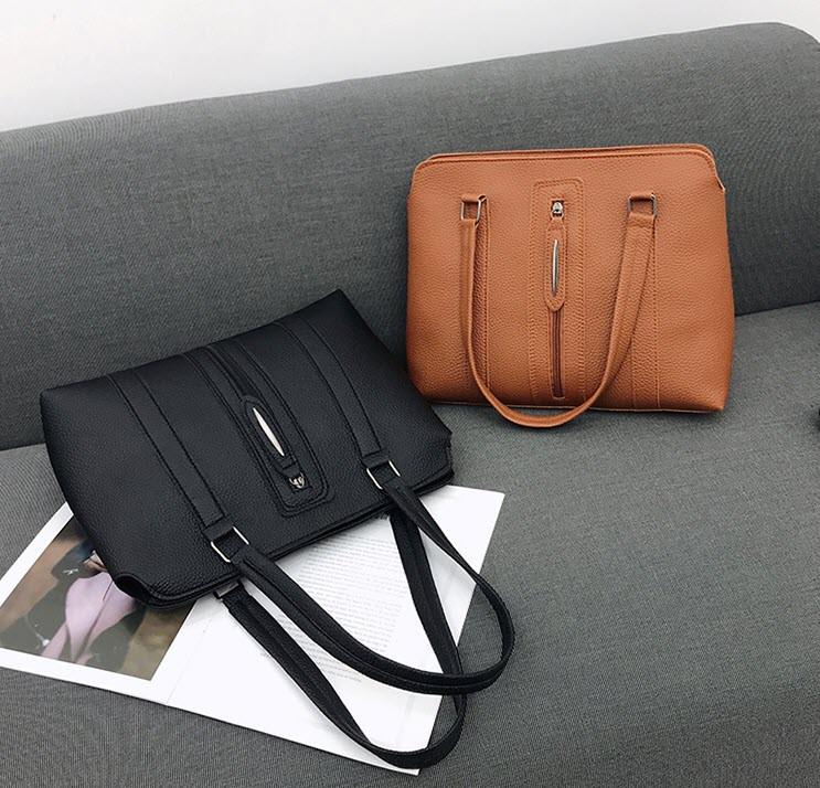 Набір жіночих сумок 4в1 зі стильною блискавкою