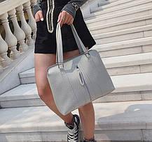 Набор женских сумок 4в1 со стильной молнией, фото 3
