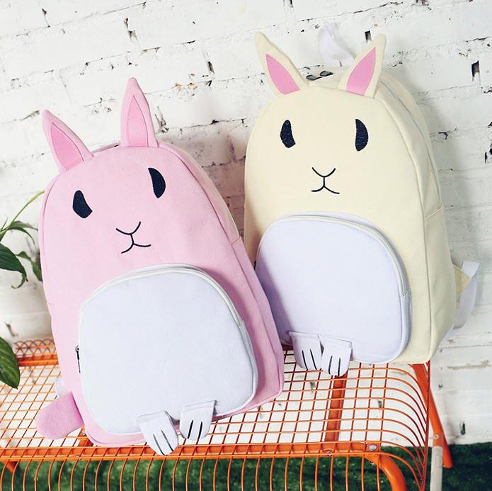 Оригінальний тканинний рюкзак кролик