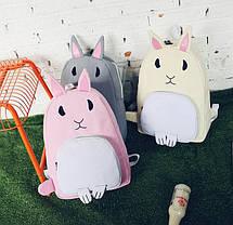 Оригінальний тканинний рюкзак кролик, фото 2