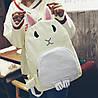 Оригінальний тканинний рюкзак кролик, фото 3