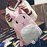 Оригінальний тканинний рюкзак кролик, фото 4
