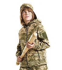 Детская куртка Скаут камуфляж Пиксель, фото 3