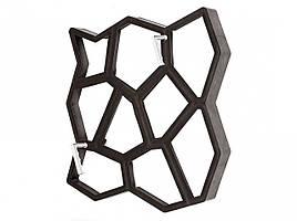 """Премиум форма для садовой дорожки """"Замковый камень"""" 600x600x60 мм. с ручками"""