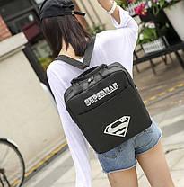 Модный тканевый рюкзак-сумка со светящимся знаком супермен , фото 3