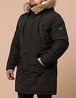 """Красивая качественная куртка-парка зимняя мужская коричневая Braggart """"Arctic"""""""