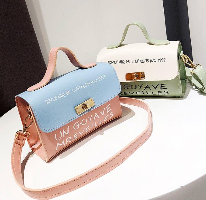 Милые двухцветные женские сумки с клатчем