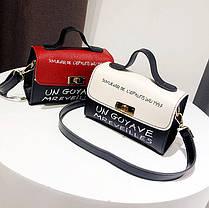 Милые двухцветные женские сумки с клатчем , фото 3