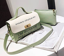 Милые двухцветные женские сумки с клатчем , фото 2