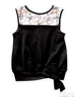 """Блуза черная """"Ромашка"""" NY77 Design"""