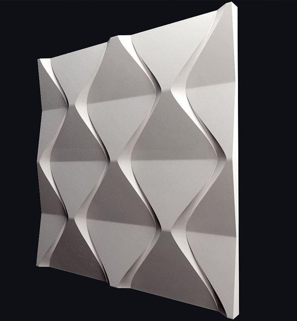 """Настенная гипсовая 3D панель """"Пирамида"""""""