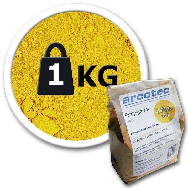 Пигмент для бетона желтый Arcotec (Германия), 1 кг.
