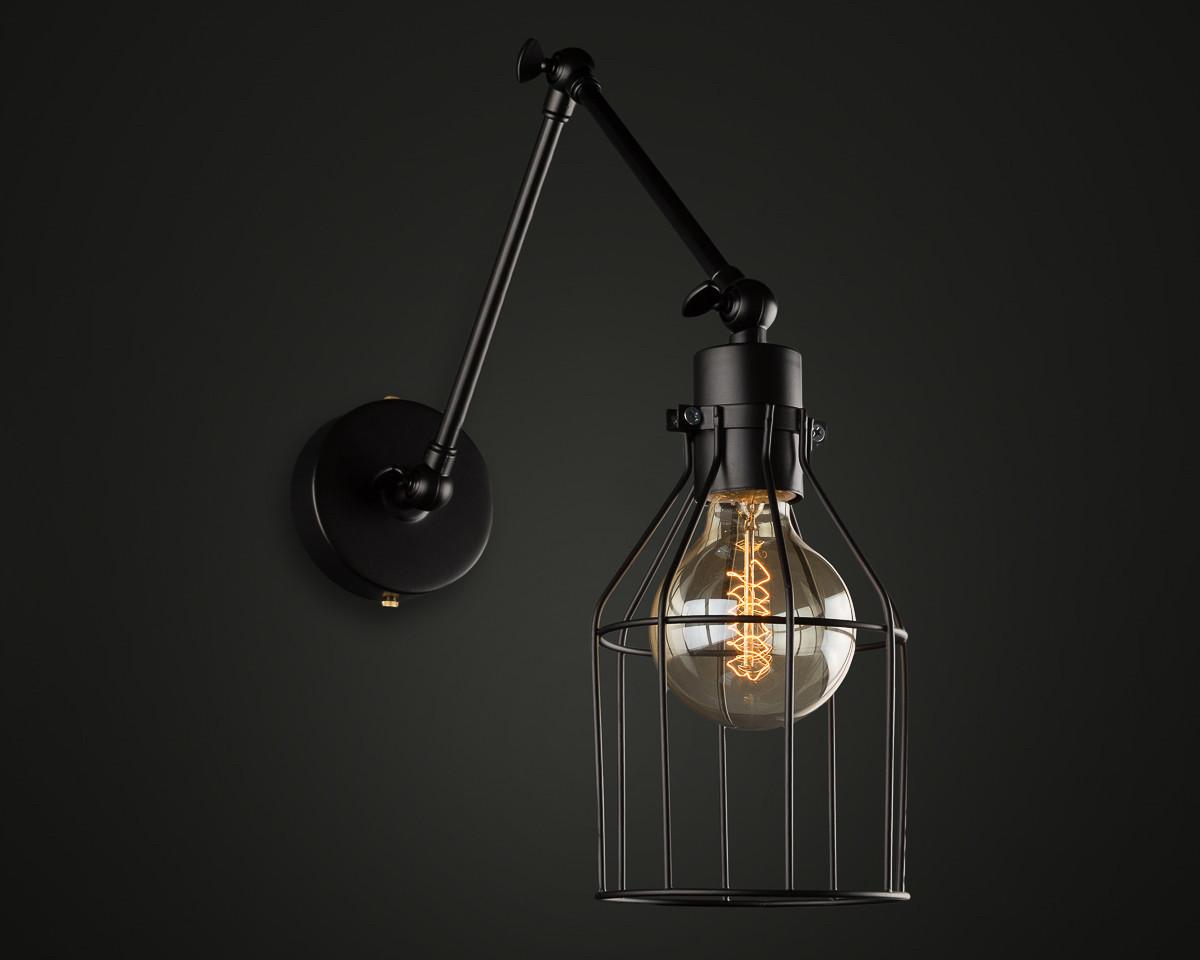 Настенный светильник WL-4 черный