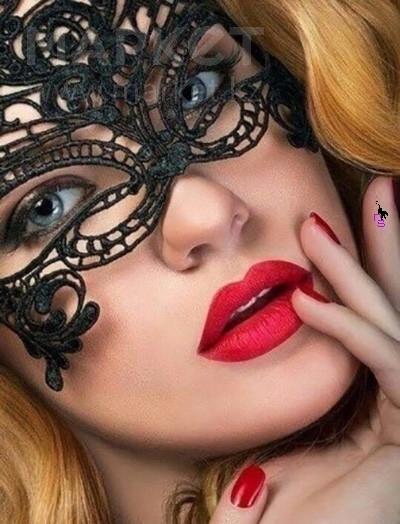 """Кружевная обворожительная маска """"Соблазн""""2908 к праздникам"""