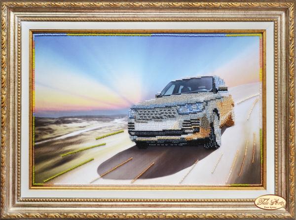 """Набор для вышивки бисером 36х24см """"На пути к счастью (Range Rover)"""" Тэла Артис (с чешским бисером)"""