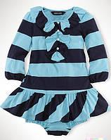 "Платье ""Light Topaz Blue Multi"" Ralph Lauren"