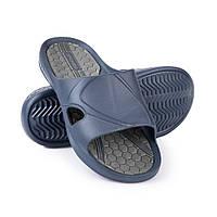 Шлепанцы пляжные мужские Spokey Orbit 44 Темно-синие с серым s0073, КОД: 240196