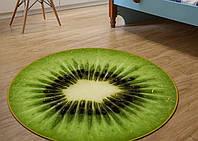 Круглый 3d коврик для дома безворсовый 80 х 80 см