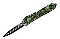 """Нож выкидной автоматический Фронтальный выброс клинка Для ежедневного ношения (EDC) - """"Череп""""; Со стеклобоем-"""