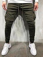 Мужские коттоновые штаны джоггеры  4321 515bf235309ff