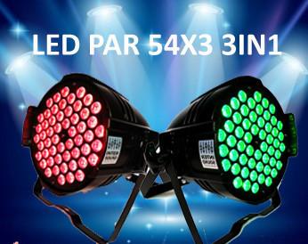 Прожектор Led Par 54*3 3в1 RGB. Светомузыка, подсветка Dzyga