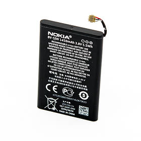 Аккумулятор Nokia BV-5JW для Lumia 800   N9 1450 mAh 00000026551, КОД: 291831