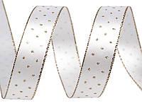 Лента атласная с серебристым люрексом, фото 1