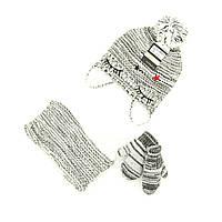 Шапка снуд перчатки Suve для 6 мес -2 года Чёрно-белый TUR 007 star white-black, КОД: 152795