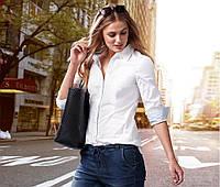 Шикарная белая рубашка из органического хлопка от тсм tchibo (чибо),германия,размер укр 46-50, фото 1