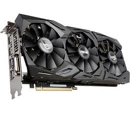 Asus PCI-Ex GeForce GTX 1070 ROG Strix 8GB GDDR5 256bit 1632 8000 DVI, 2 x HDMI, 2 x DisplayPort, КОД: 197259
