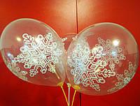 """GEMAR воздушные шары Италия 12 кристалл 00 прозрачный с рис.""""СНЕЖИНКА большая"""""""