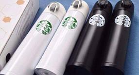 Термос  Starbucks-5 (B)  (черный, белый) PR2, фото 2