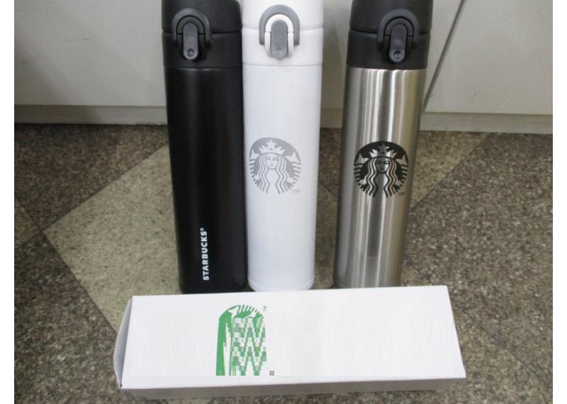 Термос  Starbucks-5 (B)  (черный, белый) PR2