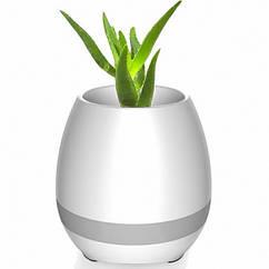 Умный цветочный горшок Smart Music Flowerpot с музыкой Белый FW01, КОД: 146971
