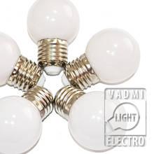 LED лампа, цвет теплый белый, G45, Е27, 1.2 Вт, 2700 К, АС 220 В