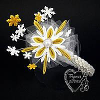 Снежинка ободок, корона снежинка на утренник ручной работы