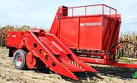 TORNADO-80 двухрядный прицепной комбайн для уборки кукурузы в початках