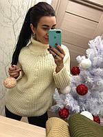 Белый вязаный свитер, фото 1