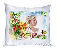 Плюшевая подушка с Вашим фото. С 8 Марта 08