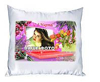 Плюшевая подушка с Вашим фото. С 8 Марта 09