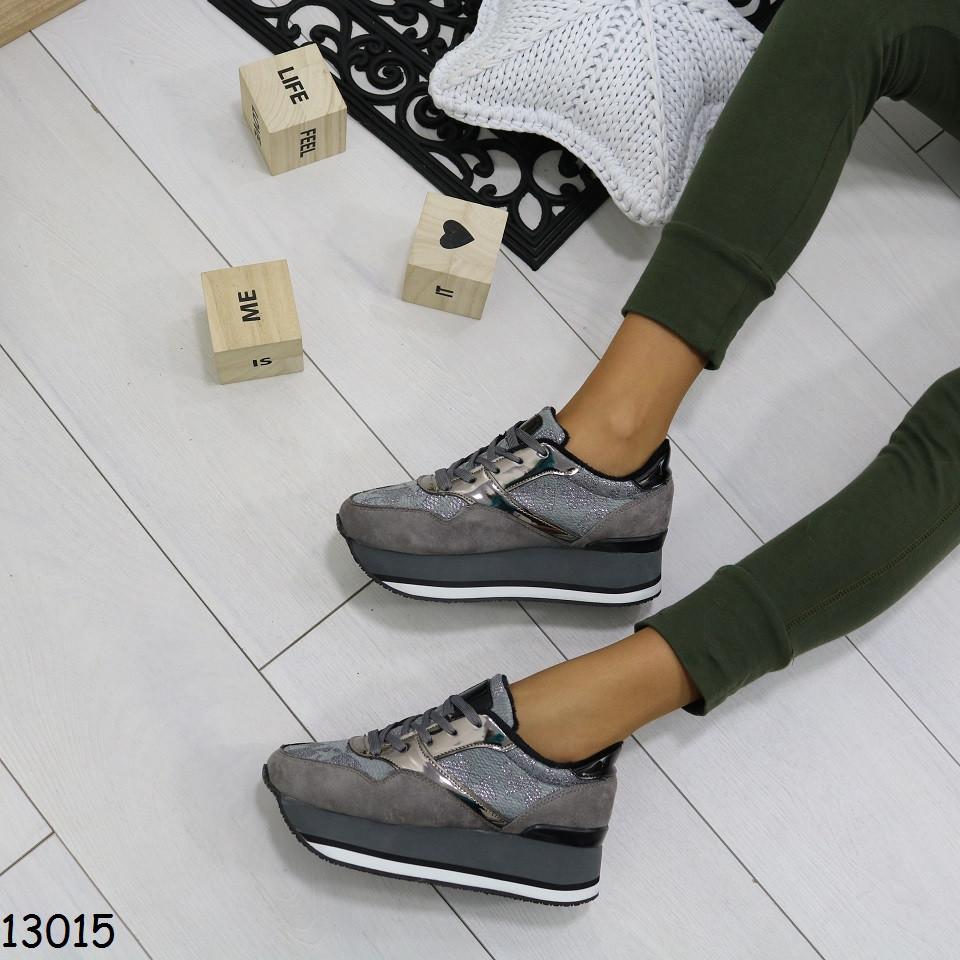 Кроссовки на платформе серые 13015  продажа, цена в Днепре ... 26f33acb845