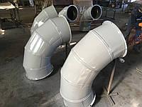 Отвод 90* 0,5 мм,диаметр 350 мм. вентиляционный, круглый, оцинковка