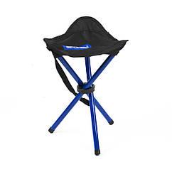 Туристический раскладной стул Spokey Pathook 33x33x46 cм Черный с синим s0258, КОД: 109013