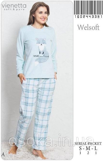 Теплая женская пижама  Vienetta Secret 3391