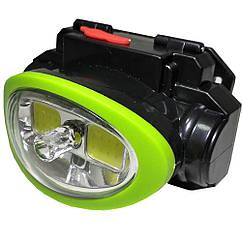 Налобный тактический фонарь BL-0520 COB Черно-зеленый sp4100, КОД: 110464
