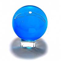 Шар голубой хрустальный на подставке