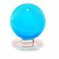 Хрустальный шар в подарок на подставке голубой
