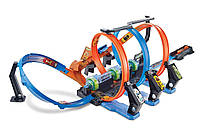 Моторизированный трек Хот Вилс Невероятные виражи Hot Wheels Corkscrew Crash Track Set